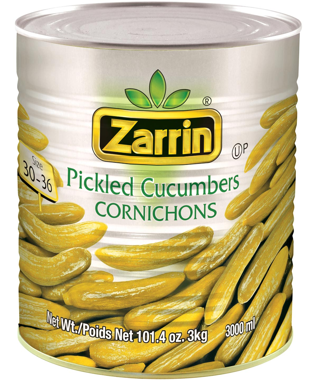 Pickled cucumbers in can by Zarrin 30-36.